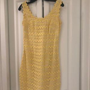 Yellow Lace Lilly Pulitzer Sundress